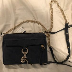 Rebecca Minkoff Mini MAB - Navy Suede/light gold
